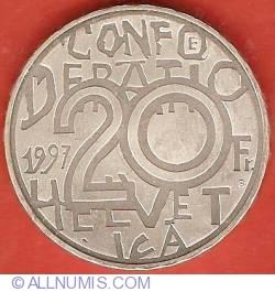 Image #1 of 20 Francs 1997 - Jeremias Gotthelf
