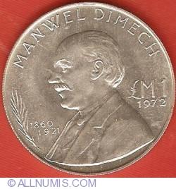 Image #2 of 1 Pound 1972 - Manwel Dimech