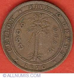 Imaginea #2 a 5 Cents 1870