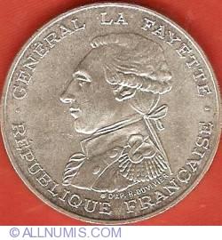 Image #2 of 100 Francs 1987 - General La Fayette