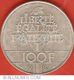 Image #1 of 100 Francs 1987 - General La Fayette