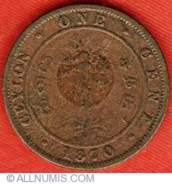 Imaginea #2 a 1 Cent 1870