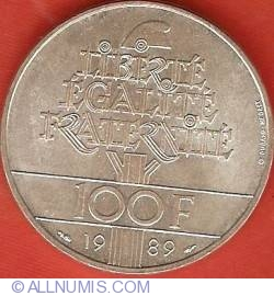 Image #1 of 100 Francs 1989 - Human Rights
