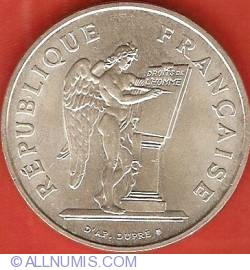 Image #2 of 100 Francs 1989 - Human Rights