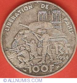 Image #1 of 100 Francs 1994 - Liberation of Paris
