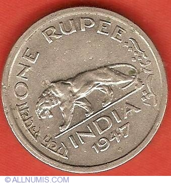 SEE PICTURES 1947 BRITISH INDIA 1//4 RUPEE IN UNC CONDITION