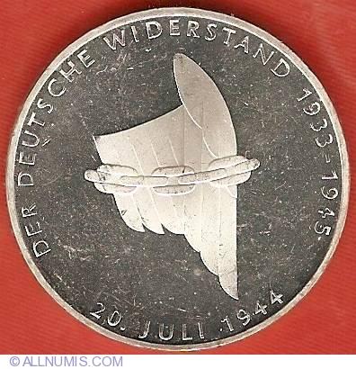 10 Mark 1994 G Herder Proof orginal Folie Germany Deutsche Mark DM