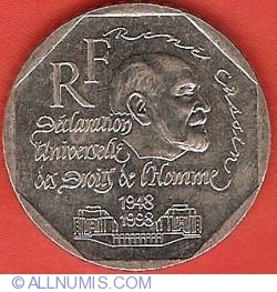 Image #2 of 2 Francs 1998 - Declaration of Human Rights