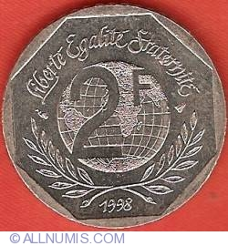 Image #1 of 2 Francs 1998 - Declaration of Human Rights