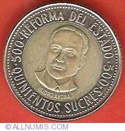 Imaginea #2 a 500 Sucres 1995 - Reforma statului