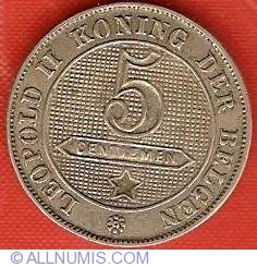 Image #2 of 5 Centimes 1901 Dutch