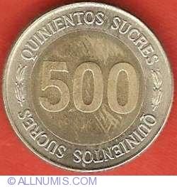 Imaginea #2 a 500 Sucres 1997 - Aniversarea a 70 de ani - Banca Centrala