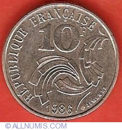 Image #2 of 10 Francs 1986
