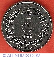 Image #2 of 5 Nuevos Pesos 1989