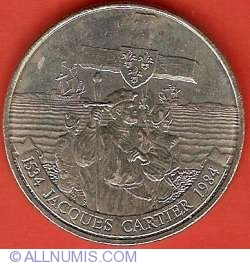 Image #2 of 1 Dollar 1984 - Jacques Cartier