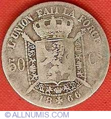 50 Centimes 1866 French