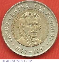 Imaginea #1 a 1000 Sucres 1997 - Aniversarea a 70 de ani - Banca Centrala