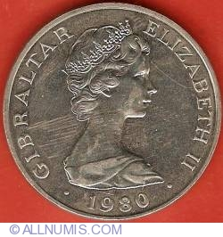 Imaginea #1 a 1 Crown 1980 - 175th Anniversary Death of Nelson