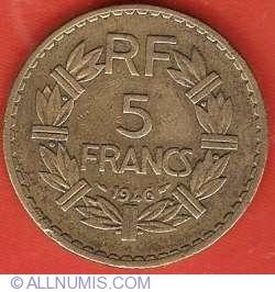 Image #2 of 5 Francs 1946