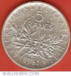 Image #2 of 5 Francs 1961