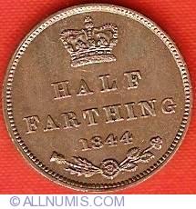 Imaginea #1 a Half Farthing 1844