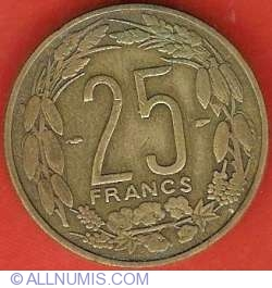 Image #2 of 25 Francs 1958