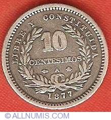 Image #2 of 10 Centesimos 1877