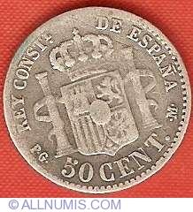 Imaginea #2 a 50 Centimos 1892