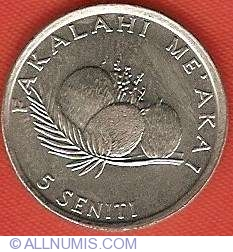 animal 5 seniti 1996 Tonga coin   Hen with Chicks  Uncirculated beauty FAO coin