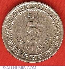 Image #2 of 5 Centavo 1911
