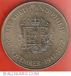 25 New Pence 1972 - Aniversarea de argint a nuntii regale