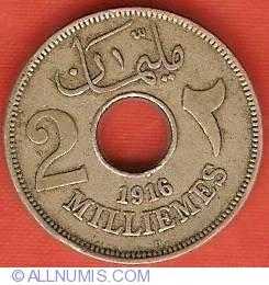 Imaginea #2 a 2 Milliemes 1916 (AH1335)