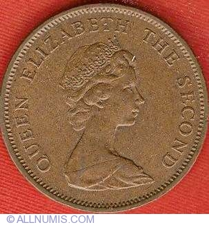 2 New Pence 1980, British Dependency - 1968-1980 (New Penny