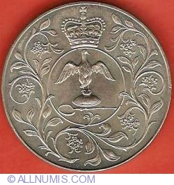 25 New Pence 1977 - Silver Jubilee of Reign