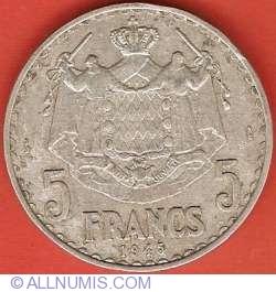 Imaginea #2 a 5 Francs 1945
