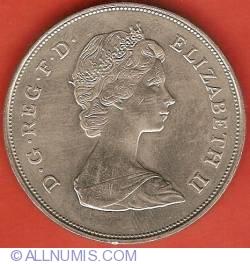 25 New Pence 1981 - Celebrarea nuntii dintre Printul de Wales si Lady Diana Spencer
