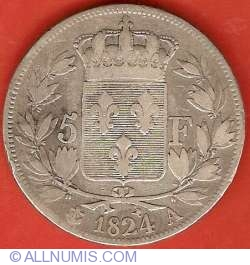 Image #2 of 5 Francs 1824 A
