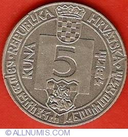 Image #2 of 5 Kuna 1994 - 500th anniversary Senj