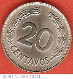 Imaginea #2 a 20 centavos 1971