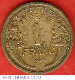 Image #2 of 1 Franc 1944