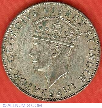 1 Shilling 1941 British Colony 1941 1964 East Africa Coin 7047