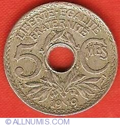 Image #2 of 5 Centimes 1919