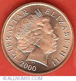 1 Penny 2000, British Colony (1989-2000) - Gibraltar - Coin