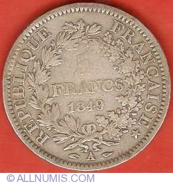 Image #2 of 5 Francs 1849 A