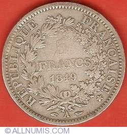 Imaginea #2 a 5 Franci 1849 A