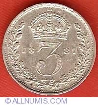 Threepence 1887