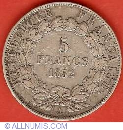 Image #2 of 5 Francs 1852 A