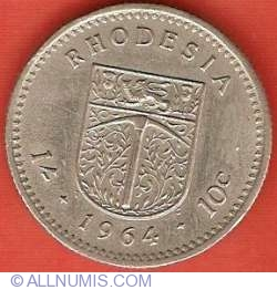 Image #2 of 1 Shilling (10 Cents) 1964