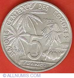 Imaginea #1 a 5 Franci 1992 - Conferinta Mondiala Piscicola