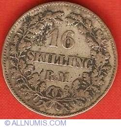 Imaginea #2 a 16 Rigsmontskilling 1858